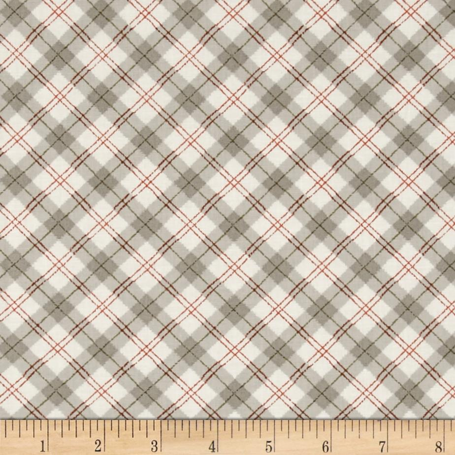 Sherwood Plaid Grey/Rust/White