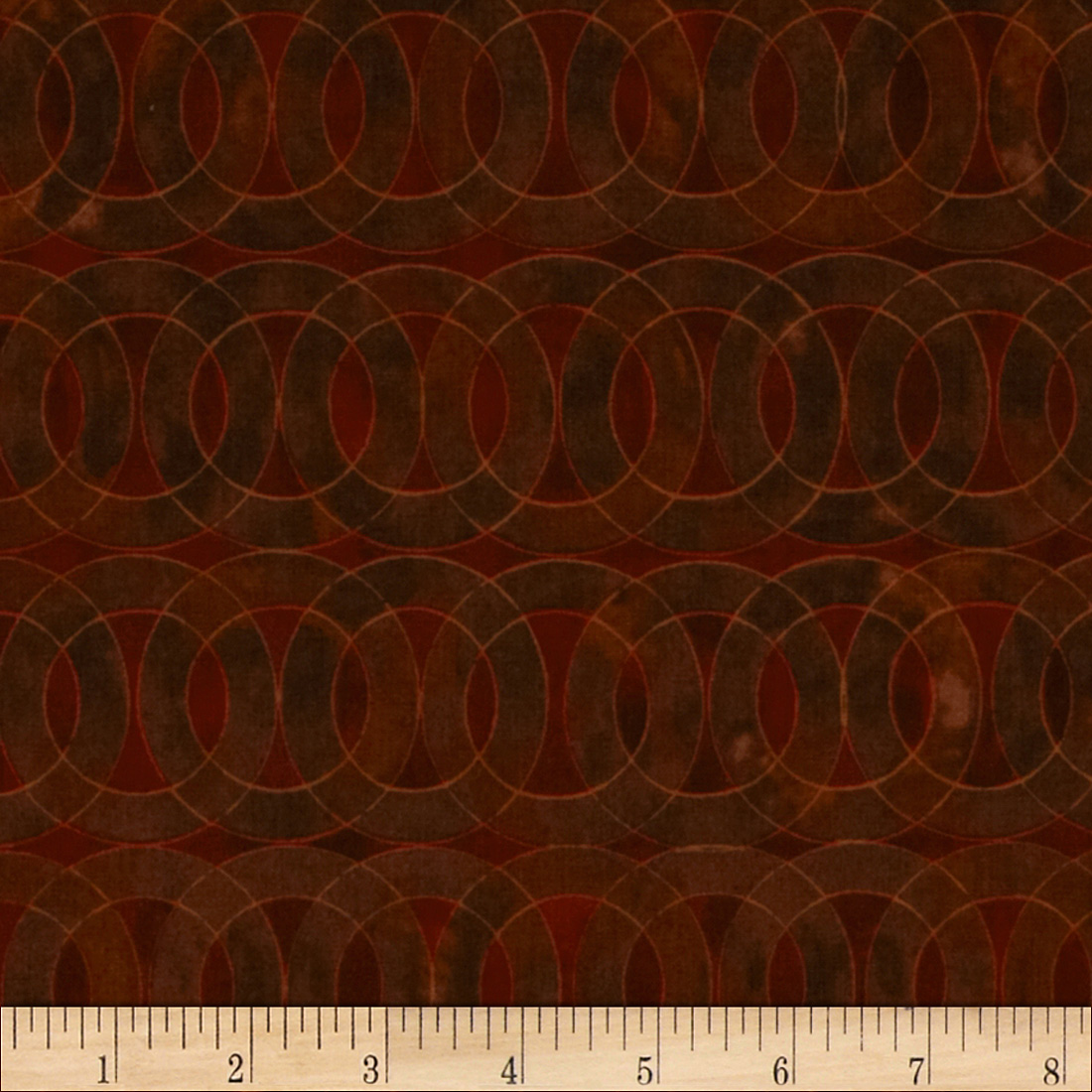 Studio Stash Stained Glass Circle Cinnamon Fabric