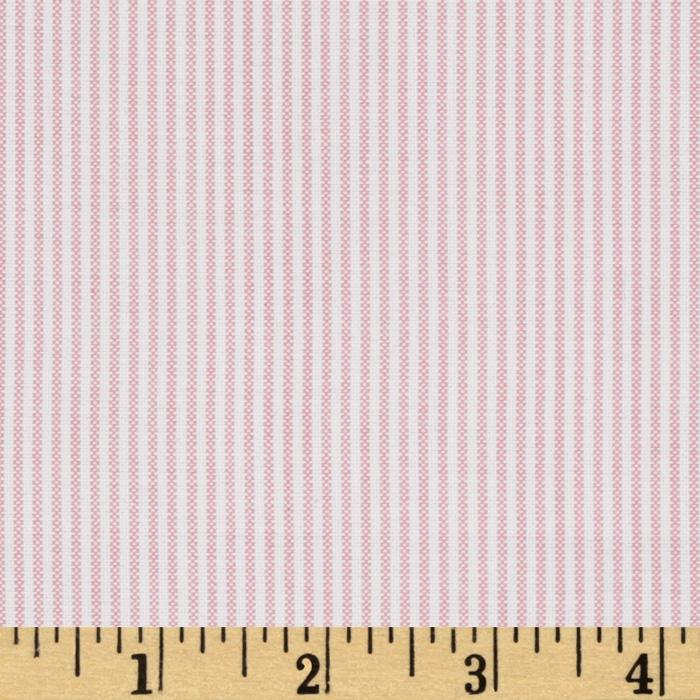 Oxford Shirting Yarn Dyed Small Stripe Pink