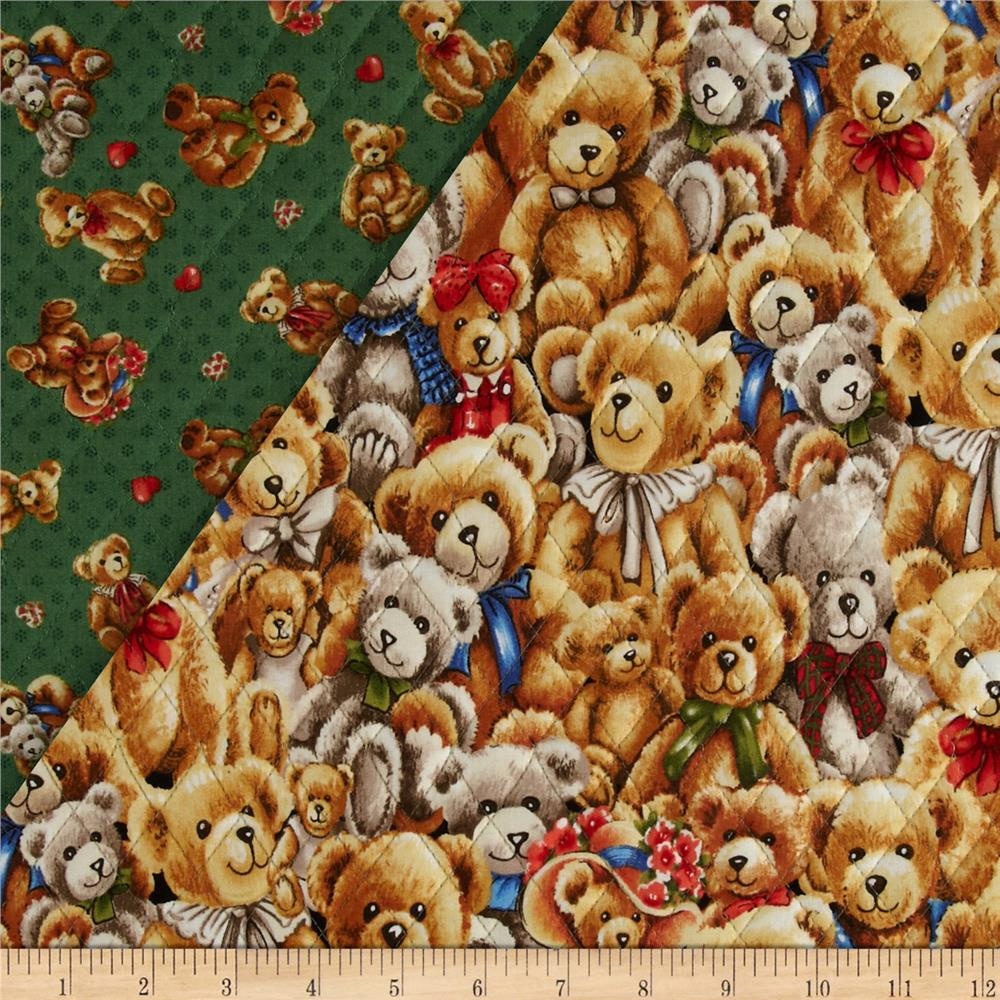 Bear Hugs Double Sided Quilted Stacked Bears Multi