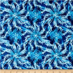 Winter Wonderland Flannel Snowflake Swirl Midnight