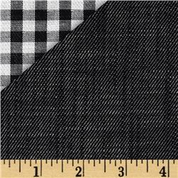 Kaufman Double Cloth Cotton Gingham Black Fabric