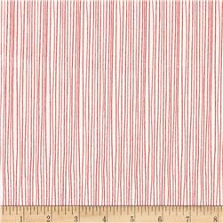 Moda Red Dot Green Dash Brushed Cottons Holiday Stripe Winterwhite/Red