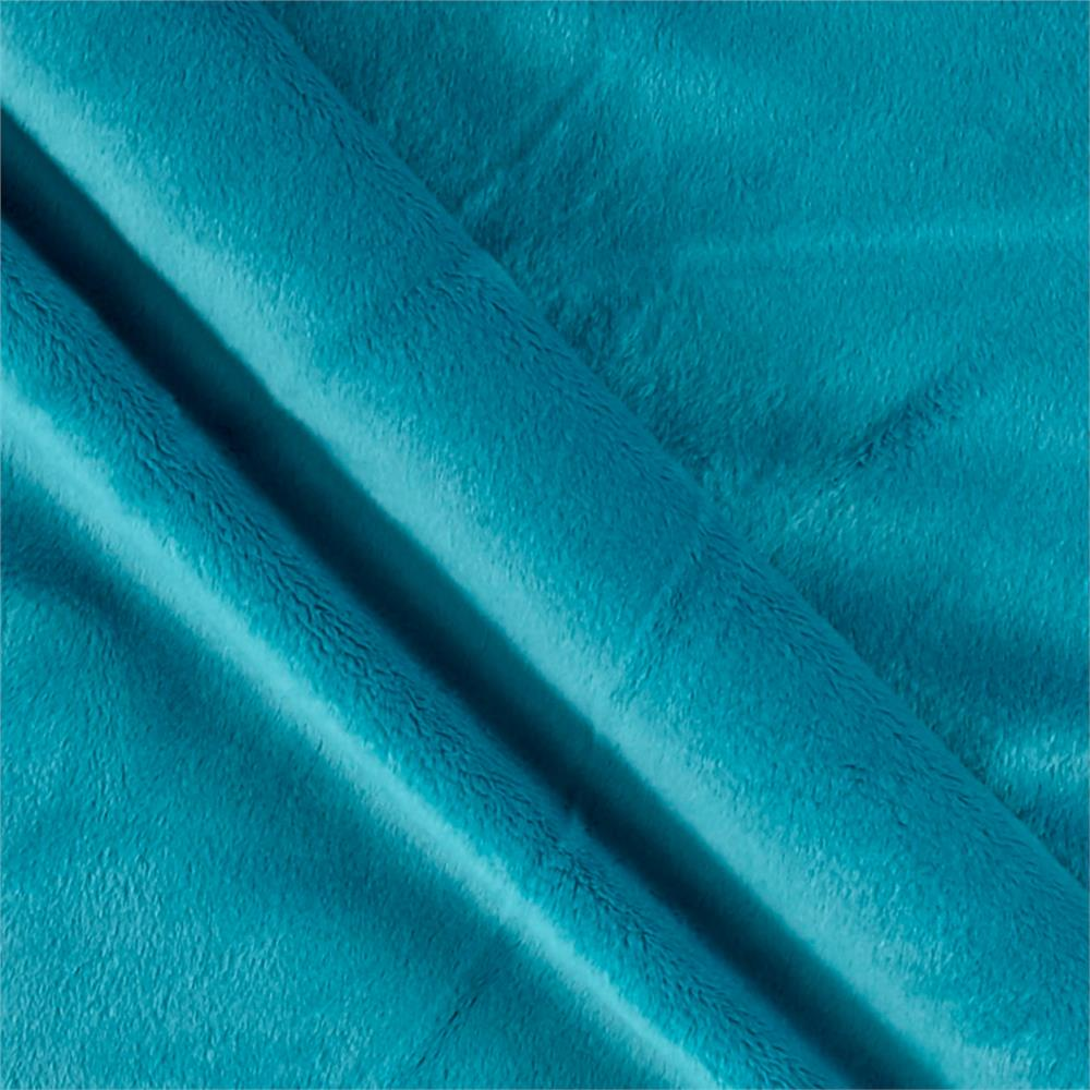 Solid Minky Plush Teal