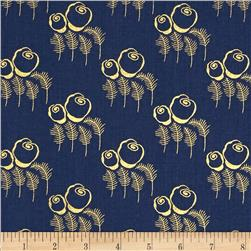 Timeless Treasures Charleston Metallic Art Deco Navy