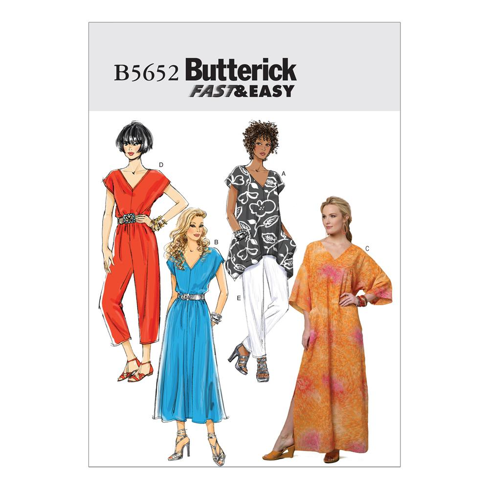 Butterick Misses' Top, Dress, Caftan, Jumpsuit and Pants