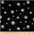 Jolly Ole' St. Nick Snowflake Black