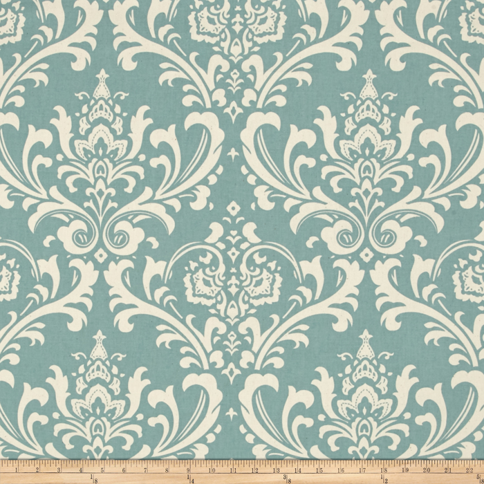 Premier Prints Ozborne Village Blue/Natural
