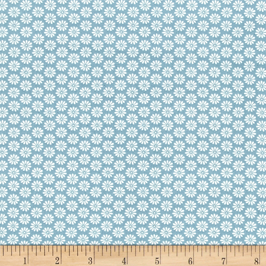 INOpets.com Anything for Pets Parents & Their Pets Antique Garden Daisy Blue Fabric