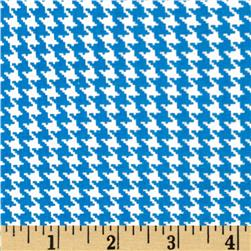 Spotlight Houndstooth Turquoise/White Fabric