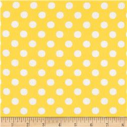 Googlies Flannel Big Dot Yellow