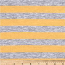 Yarn Dye Jersey Knit Mustard/Gray Stripes