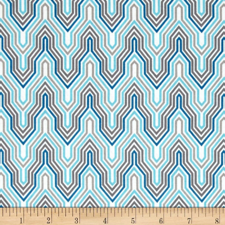 Design Studio Fretwork Blue/Gray