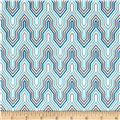 Design Studio Fretwork Blue Gray