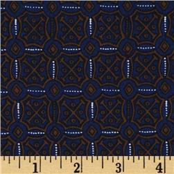 Decorative Medallions Blue/Brown