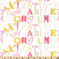 Little House Alphabet Flannel Pink