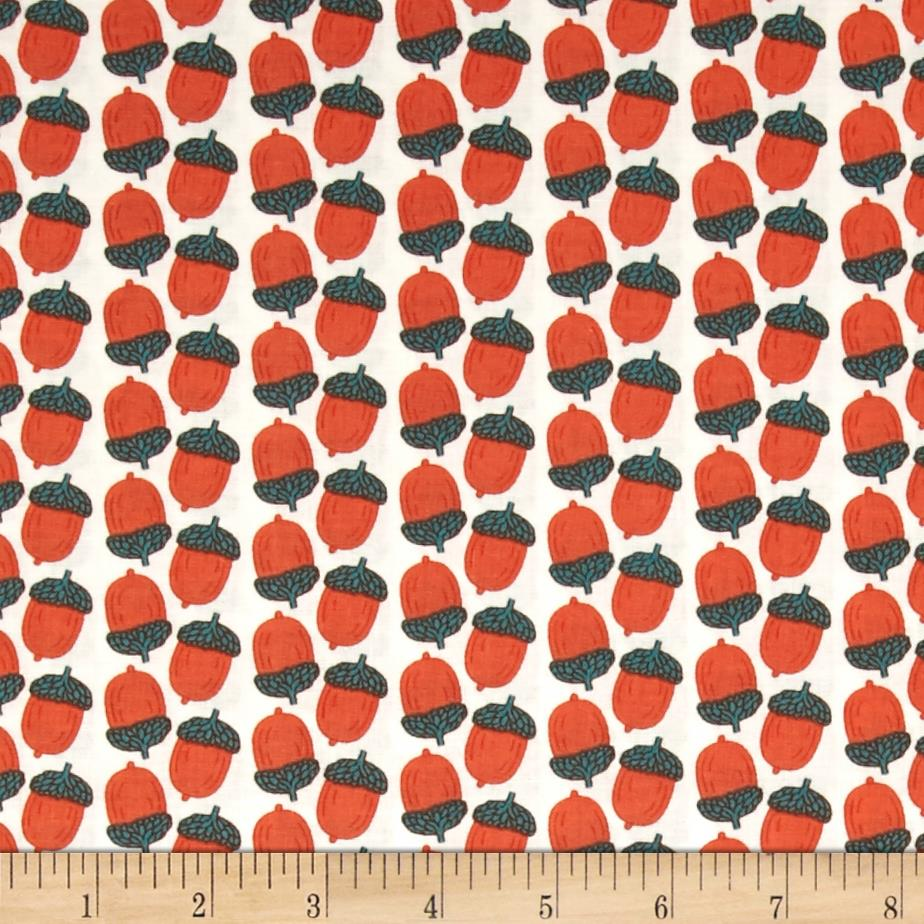 Fabric Freedom Woodland Animals Acorns Orange