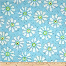 Moda Bandana Flower Child Bandana Blue