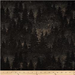 Aspen Ridge Evergreen Trees Slate Colorway
