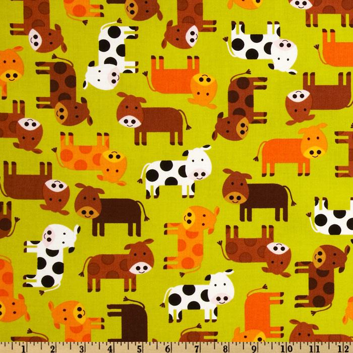Urban Zoologie Baby Cows Green