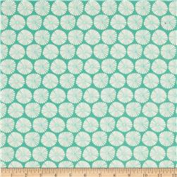 Riley Blake Fancy Free Flannel Pinwheels Teal