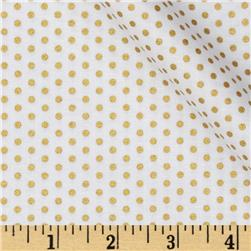 Kaufman Spot On Metallic Pindot Blanc Fabric