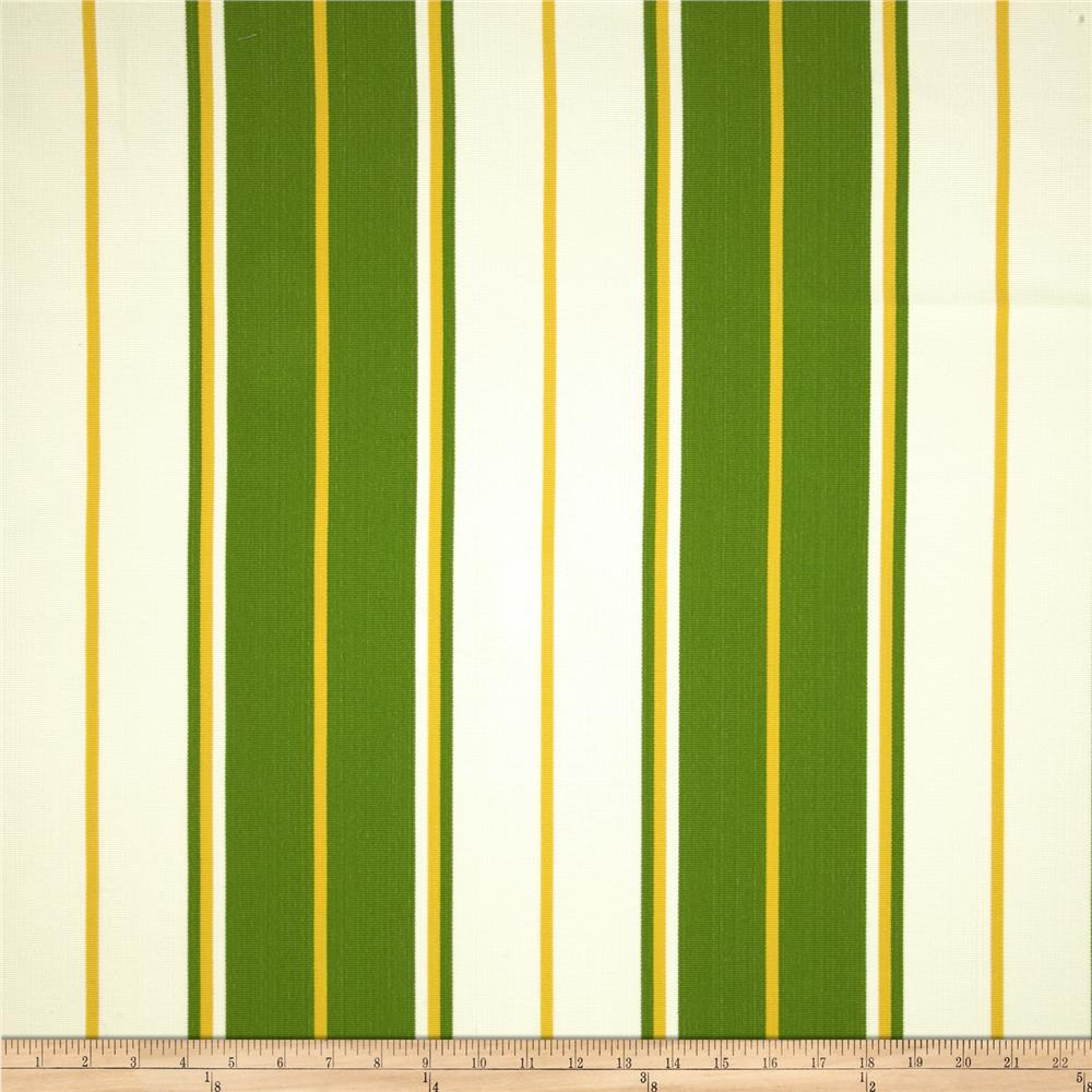 Bella-Dura Eco-Friendly Indoor/Outdoor Summer Tide Stripe Green/Yellow