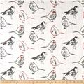Premier Prints Bird Toile Scarlet