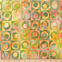 Robert Kaufman Elemental Batiks Geos Circle Box Garden