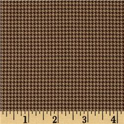 Yarn Dyed Houndstooth Tan/Black