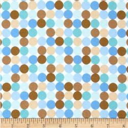 Riley Blake Snips & Snails Flannel Dots Blue
