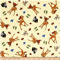 Disney Bambi And Friends Allover Beige
