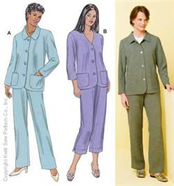Kwik Sew Jackets w/ Patch Pockets & Pull-On Pants Pattern