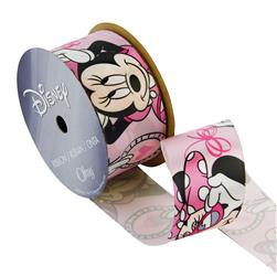 "1 1/2"" Minnie Mouse Ribbon Close Up Pink"