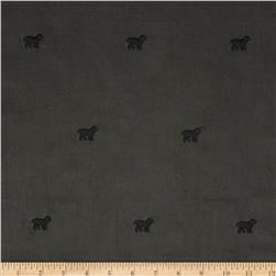 Embroidered 21 Wale Corduroy Dog Graphite/Black
