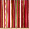 Christmas Pure & Simple Multi Stripe Red