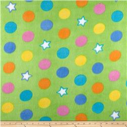 Fleece Print Gumballs Lime