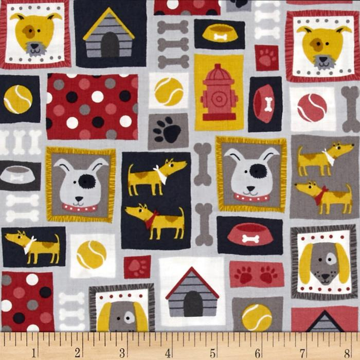 Patch Dog Dog Montage Gray