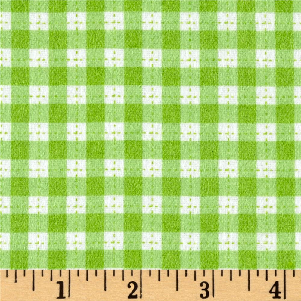 Flannel Gingham Green