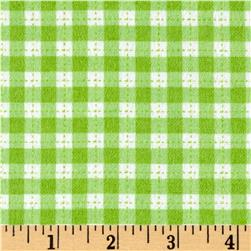 Cuddle Flannel Gingham Green