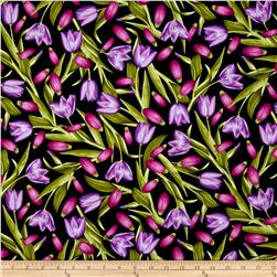 Kanvas Bloom With A View Tulips Purple/Fuchsia