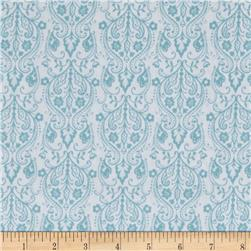 Buttercream Damask Aqua