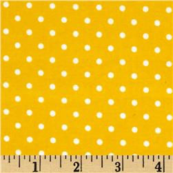 Robert Kaufman Cozy Cotton Flannel Small Dot Yellow