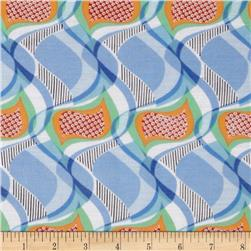 Jonquil Shirting Abstract Swirl Mint/Blue