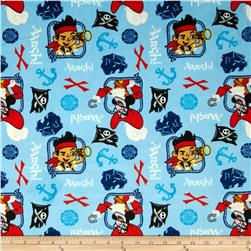 Disney Minky Jake Treasure Quest Blue