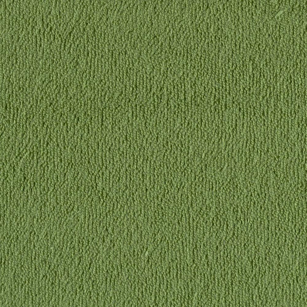 Stretch Cotton Blend Knit Terry Cloth Apple Green