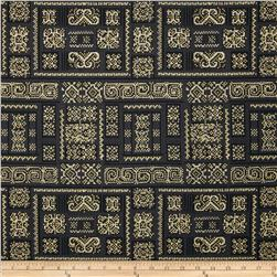Mandalay Metallic Woven Tile Charcoal/Gold