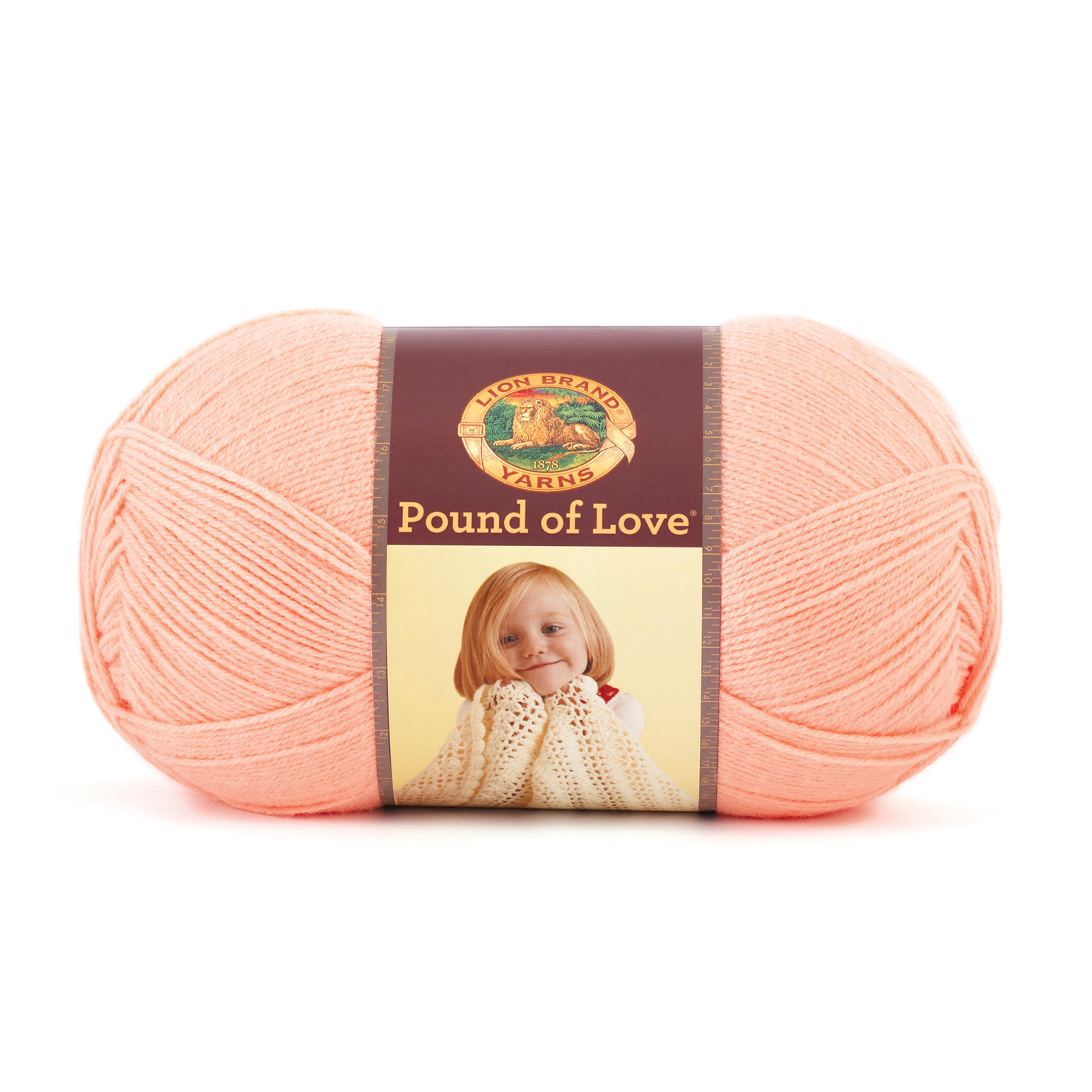 Lion Brand Yarn Pound of Love Creamsicle by Lion in USA