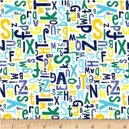 Riley Blake Crayola Alphabet Blue