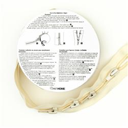 Cut-To-Size Nylon Upholstery Zipper 3 1/4'' Cream